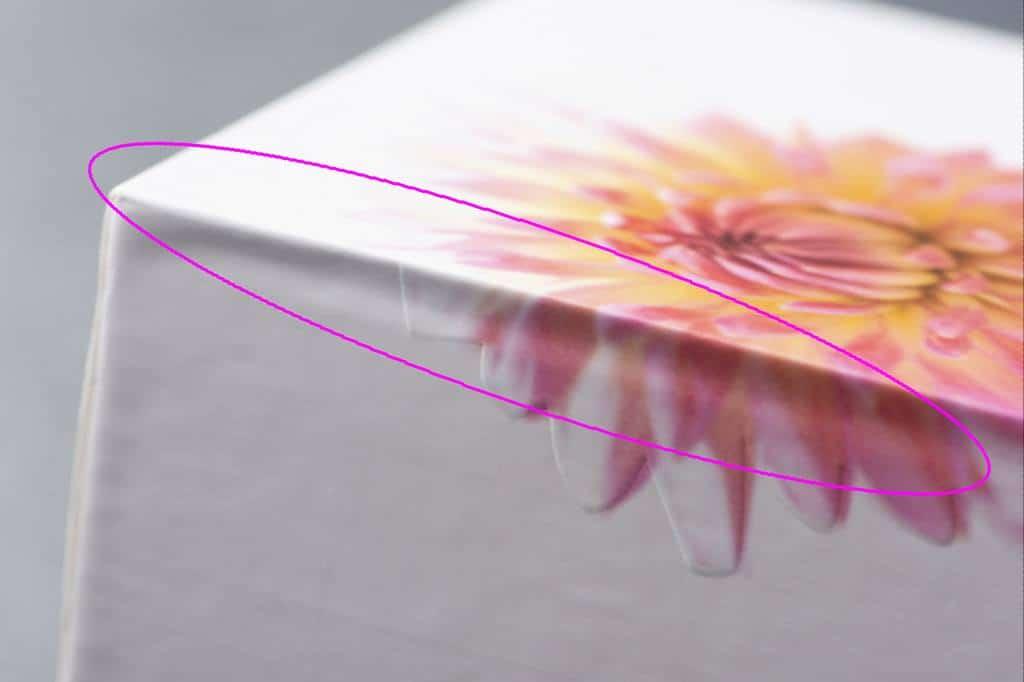 手作業での箱製造 凹凸の例2