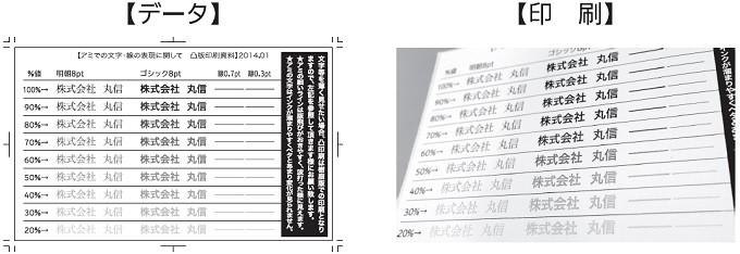 アミでの文字・線の表現