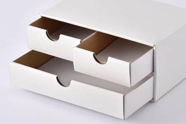 二段引き出し箱の展開図②